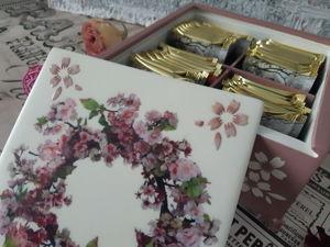 Чайный короб  «Яблоневый цвет». Ярмарка Мастеров - ручная работа, handmade.
