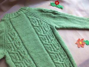 Вяжем спицами детский джемпер регланом снизу. Часть 2. Ярмарка Мастеров - ручная работа, handmade.