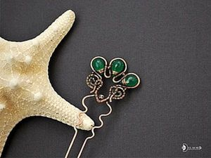 Wire Wrap DIY: Making a Green Garden Hairpin. Livemaster - handmade
