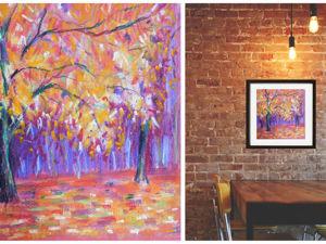 Рисуем масляной пастелью Осень. Ярмарка Мастеров - ручная работа, handmade.