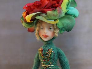 Кукла-цветок ручной работы. Ярмарка Мастеров - ручная работа, handmade.