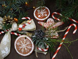 Лепим сладости на ёлку и для новогодних композиций! Лепка из папье-маше, соленого теста и пластики. Ярмарка Мастеров - ручная работа, handmade.