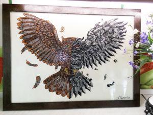 Картина Сова. Ярмарка Мастеров - ручная работа, handmade.