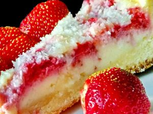 Творожный пирог с клубникой в духовке от Оли Pins. Ярмарка Мастеров - ручная работа, handmade.