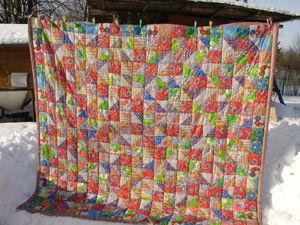 Лоскутное одеяло. Ярмарка Мастеров - ручная работа, handmade.
