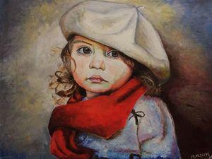 Рисуем маслом картину «Маленький художник». Ярмарка Мастеров - ручная работа, handmade.