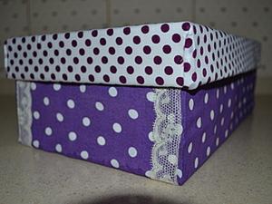 Декорирование коробки тканью. Ярмарка Мастеров - ручная работа, handmade.