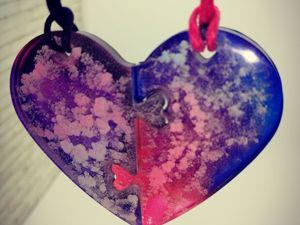 Парный кулон сердечки + брошки. Ярмарка Мастеров - ручная работа, handmade.