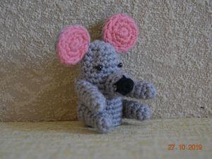 Вяжем персонажа пальчикового кукольного театра «Мышка». Ярмарка Мастеров - ручная работа, handmade.