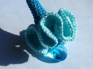Вяжем крючком подвеску  «Волна». Ярмарка Мастеров - ручная работа, handmade.
