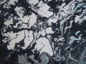 Пишем абстрактную картину с ирисами. Ярмарка Мастеров - ручная работа, handmade.