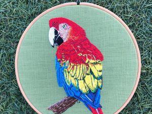 Поразительные птицы, вышитые Lucy в технике живопись иглой. Ярмарка Мастеров - ручная работа, handmade.