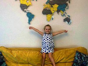Цветная Карта мира из пробки. Ярмарка Мастеров - ручная работа, handmade.