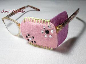 Оригинальный окклюдер на очки ребёнку. Ярмарка Мастеров - ручная работа, handmade.