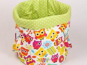 Тканевые корзины для игрушек. Ярмарка Мастеров - ручная работа, handmade.