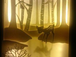 """Создаем световую картину """"Зима"""". Ярмарка Мастеров - ручная работа, handmade."""