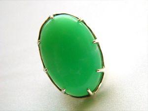 Хризопраз.  «Яблоко»  кольцо с хризопразом в серебре. Ярмарка Мастеров - ручная работа, handmade.