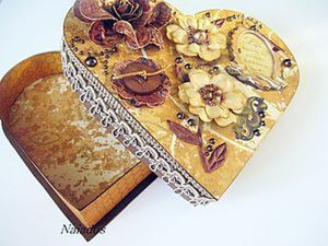 Мастер-класс шкатулка-сердце. Ярмарка Мастеров - ручная работа, handmade.