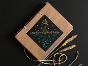 Открытка с вышивкой  «Шаманская». Ярмарка Мастеров - ручная работа, handmade.