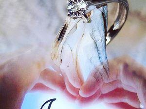 Колечко  с  бриллиантом  «Аркона»  в  серебре 925 пробы. Ярмарка Мастеров - ручная работа, handmade.