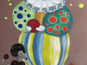 Клоун, формат А4. Ярмарка Мастеров - ручная работа, handmade.