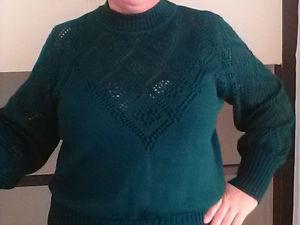 Аукцион на 2 лота, ажурный джемпер и прямую классическую юбку. Ярмарка Мастеров - ручная работа, handmade.