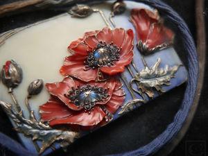 Колье  «Fleurs de feu» . Ярмарка Мастеров - ручная работа, handmade.