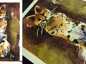 Учимся рисовать сервала акварелью. Ярмарка Мастеров - ручная работа, handmade.