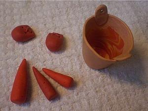 Я его слепила из того, что было, или Делаем снеговика из остатков шерсти. Часть 1. Ярмарка Мастеров - ручная работа, handmade.