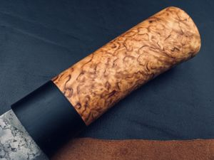 Материалы для рукоятей — карельская берёза. Ярмарка Мастеров - ручная работа, handmade.