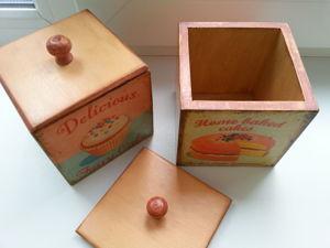 Создаем винтажный коробок «Капкейк». Ярмарка Мастеров - ручная работа, handmade.