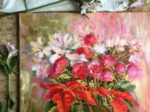 Цветы для любимых — 20% скидка на картины с цветами!. Ярмарка Мастеров - ручная работа, handmade.