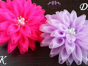 Видео мастер-класс: делаем цветы из органзы. Ярмарка Мастеров - ручная работа, handmade.