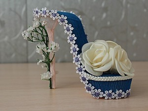 Как сделать туфельку на подарок своими руками. Ярмарка Мастеров - ручная работа, handmade.