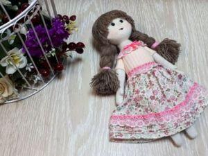 Шьем текстильную куклу. Ярмарка Мастеров - ручная работа, handmade.