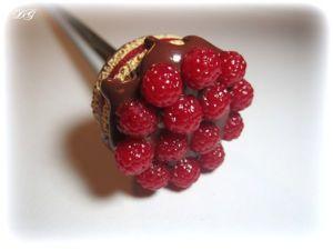 Вкусная длинная ложка с малиновым тортиком. Ярмарка Мастеров - ручная работа, handmade.
