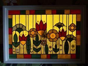 Создаем витраж-светильник «Бабушкин сад». Ярмарка Мастеров - ручная работа, handmade.
