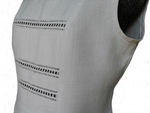 Превращения льняного платья в топ: обработка горловины и проймы. Ярмарка Мастеров - ручная работа, handmade.