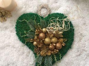 Делаем вместе красивое новогоднее панно Сердце. Ярмарка Мастеров - ручная работа, handmade.