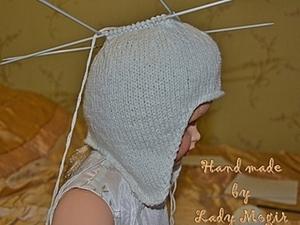 Двойная шапочка с ушками. Ярмарка Мастеров - ручная работа, handmade.