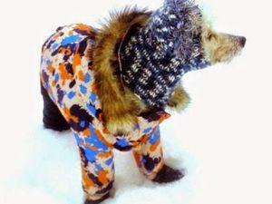 Шьем зимний костюм для собаки. Часть 2. Куртка. Ярмарка Мастеров - ручная работа, handmade.