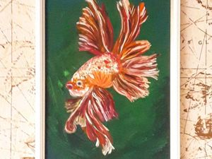 Видео-обзор моей работы  «Золотая рыбка». Ярмарка Мастеров - ручная работа, handmade.