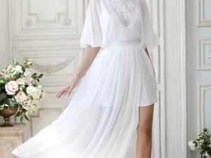 Аукцион на Эффектное летящее свадебное платье! Старт 3500 руб.!. Ярмарка Мастеров - ручная работа, handmade.