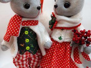 Новогодние мышки. Ярмарка Мастеров - ручная работа, handmade.
