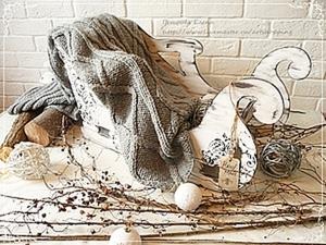 Декорируем сани для фотосессий. Ярмарка Мастеров - ручная работа, handmade.