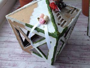 Мастерим картонный фонарик с эффектом мха или снега. Ярмарка Мастеров - ручная работа, handmade.