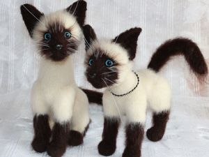 Мастерим Сиамского котика. Ярмарка Мастеров - ручная работа, handmade.
