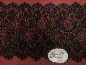 Наши новинки: Кружево Шантильи с ресничками. Ярмарка Мастеров - ручная работа, handmade.