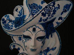 Венецианская маска Розы (синяя). Ярмарка Мастеров - ручная работа, handmade.