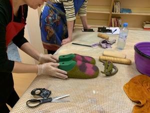 Отчет: мастер-класс по валянию тапочек (03.01.2020). Ярмарка Мастеров - ручная работа, handmade.